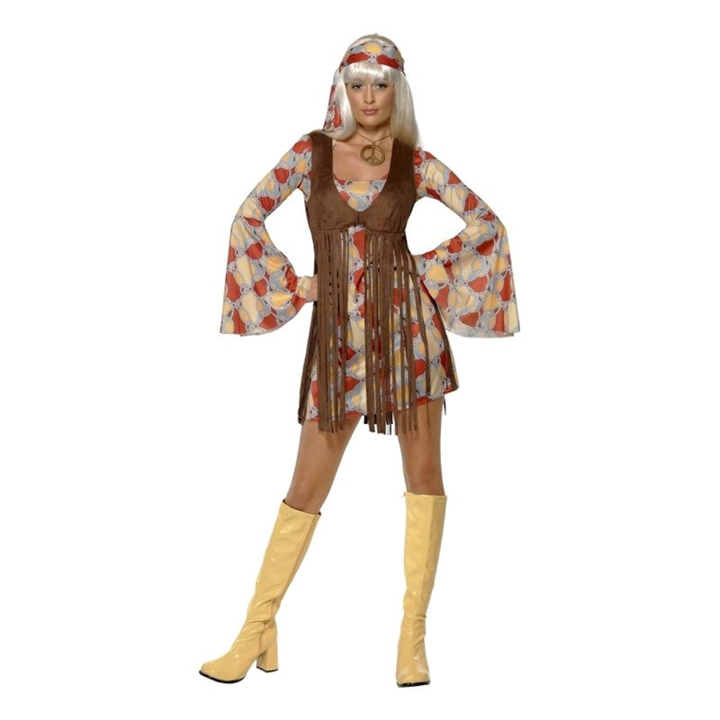 60-tals Hippie Maskeraddräkt - Small