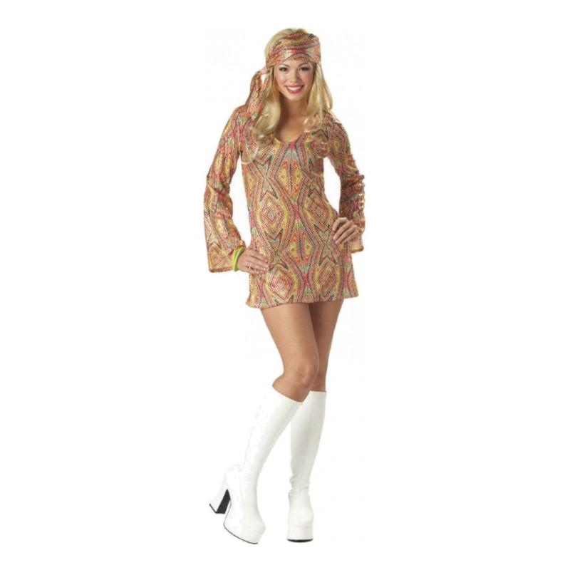 Disco Dolly Maskeraddräkt - Small