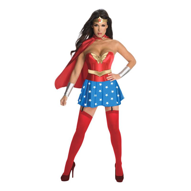 Wonder Woman Deluxe Maskeraddräkt - Small