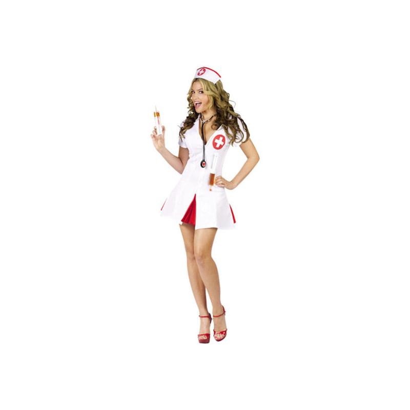 Sjuksköterska med Shotsprutor Maskeraddräkt - Small/Medium