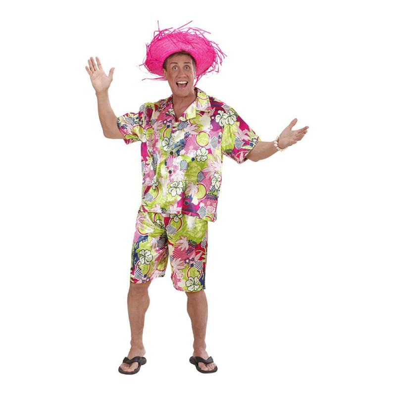 Hawaii Kille Rosa Maskeraddräkt - Small