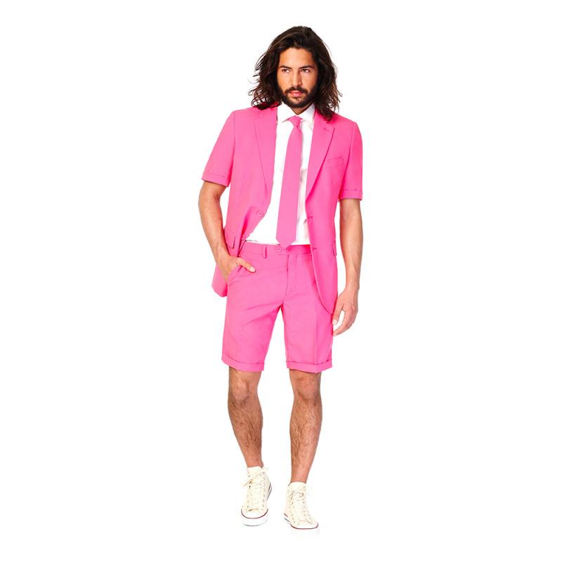 OppoSuits Mr Pink Shorts Kostym - Strl 46