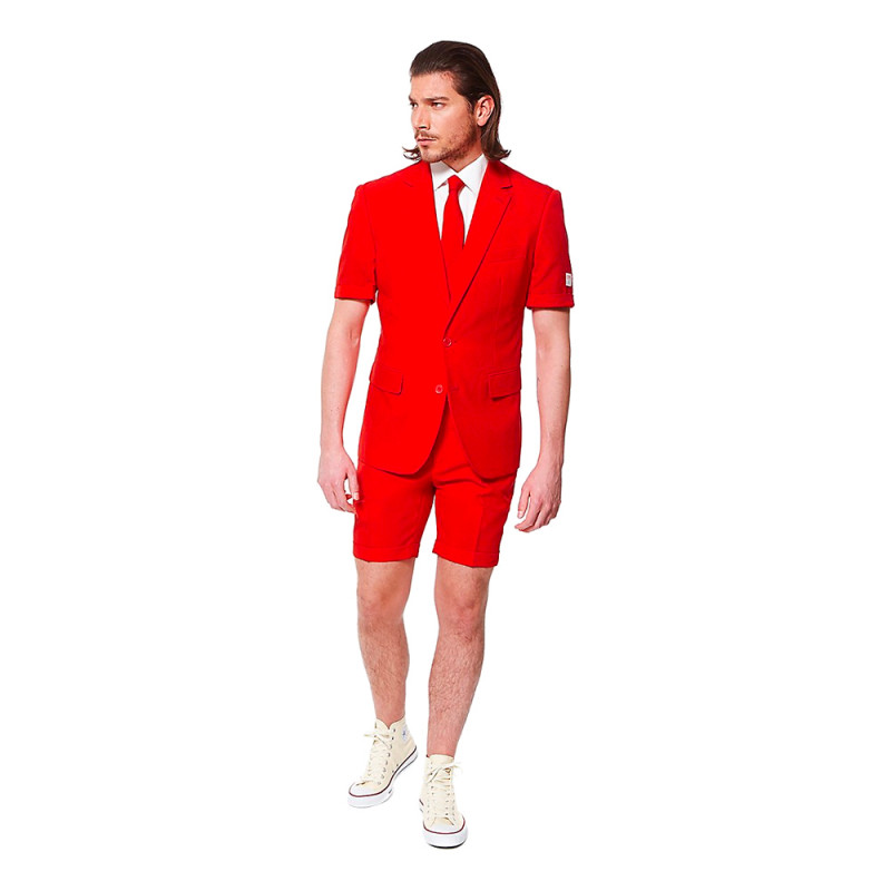 OppoSuits Red Devil Shorts Kostym - Strl 46