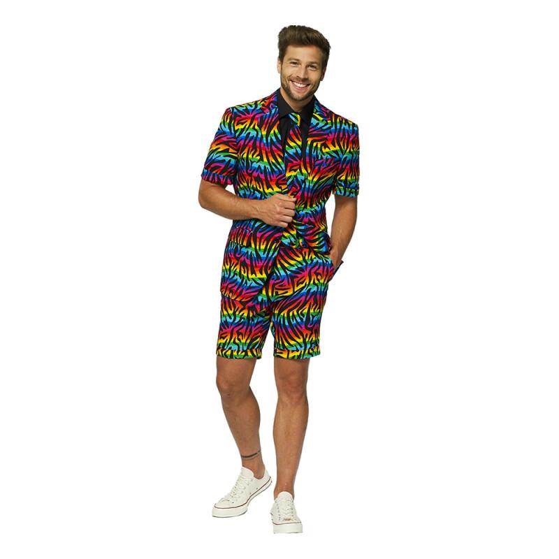 OppoSuits Wild Rainbow Shorts Kostym - Strl 46