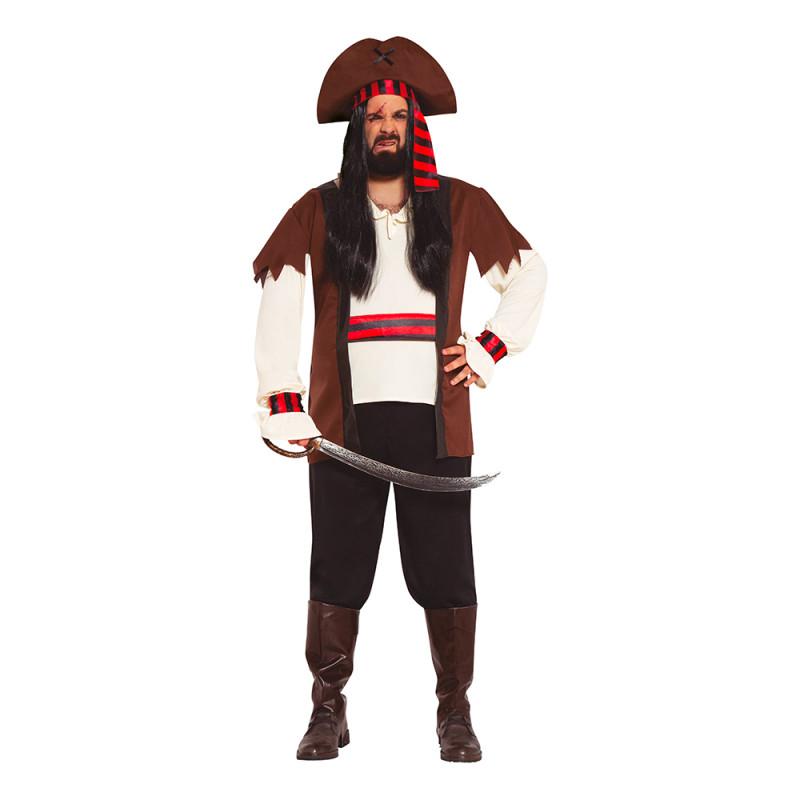 De Sju Haven Pirat Plus-size Maskeraddräkt - Plus-size