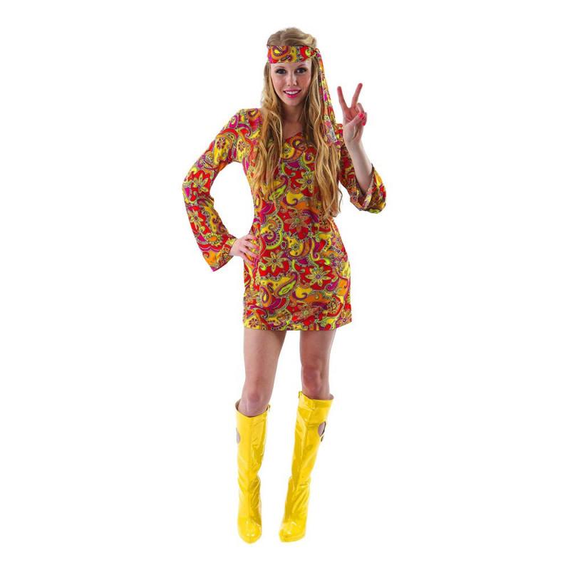 Kvinnlig Hippie Budget Maskeraddräkt - X-Large