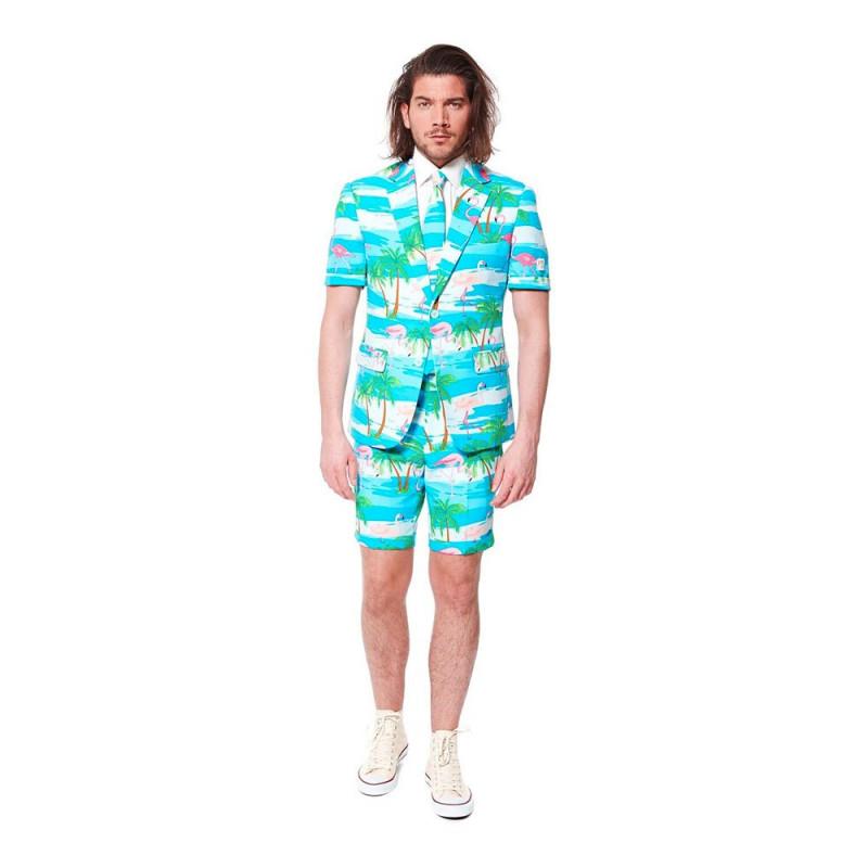 OppoSuits Flaminguy Shorts Kostym - 46