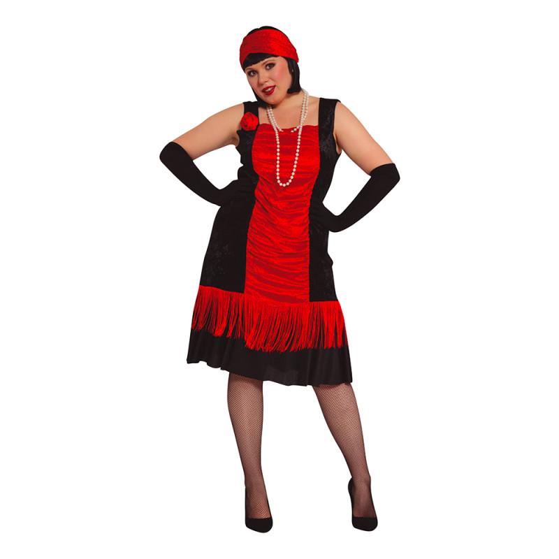Gatsbyklänning Plus-size Maskeraddräkt - Plus-size